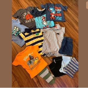 *Baby Boys 12 Months Lot Carters Cat & Jack Outfit